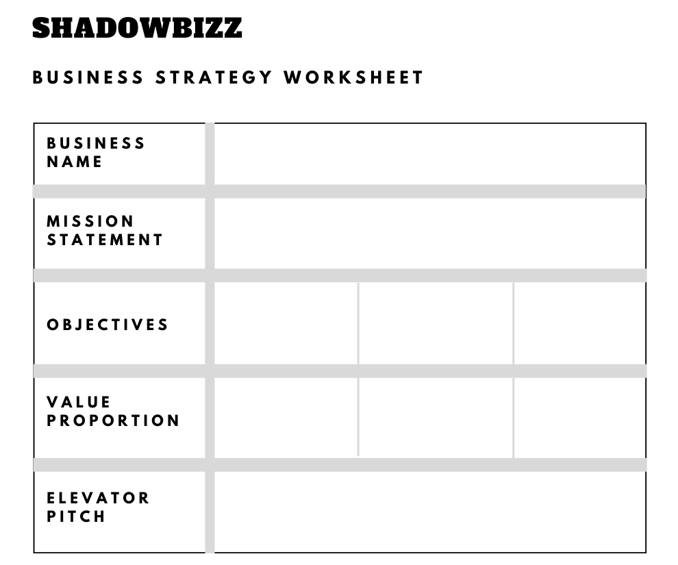Business Strategy Worksheet